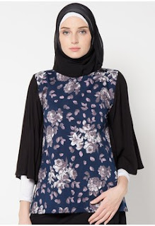 Koleksi Model Baju Batik Kantor Wanita Berjilbab