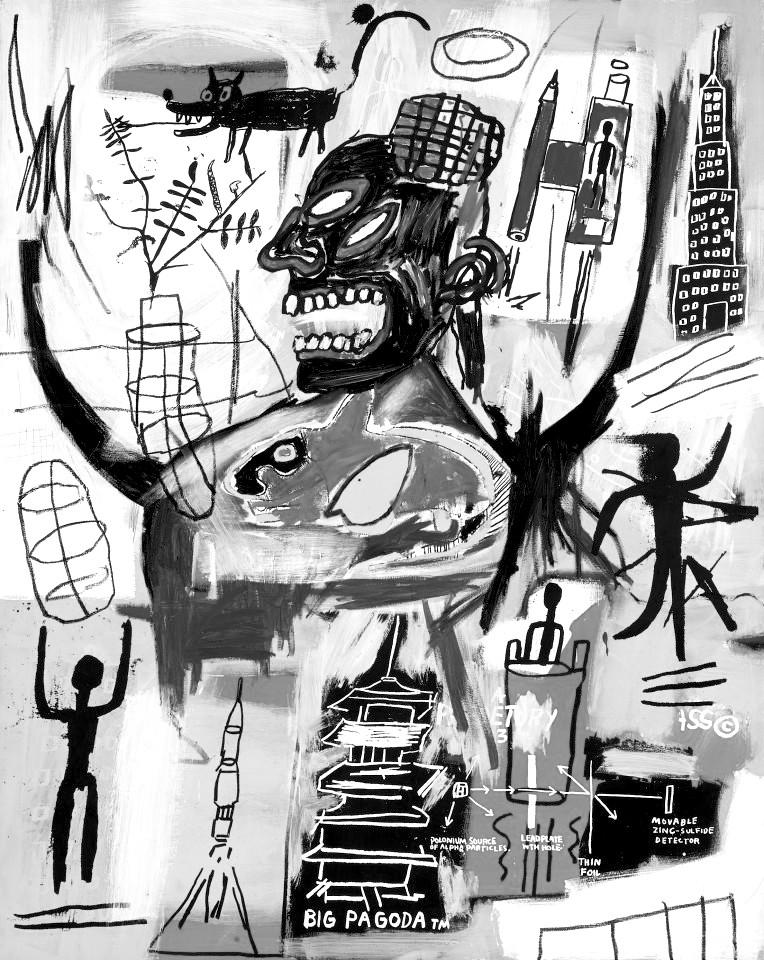 Jean-Michel Basquiat. Pyro. 1984.