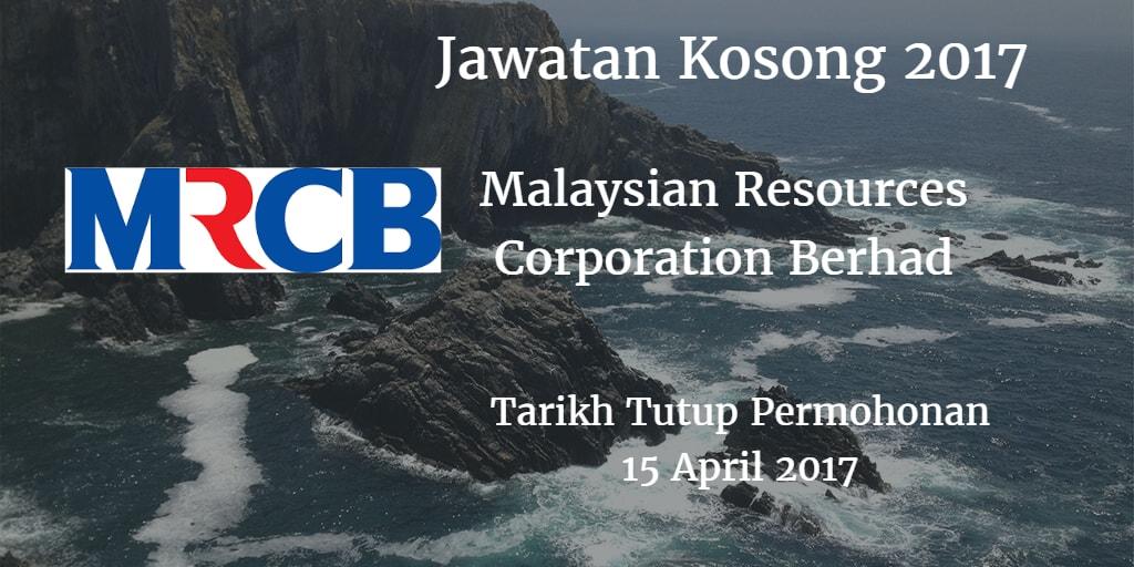 Jawatan Kosong MRCB 15 April 2017