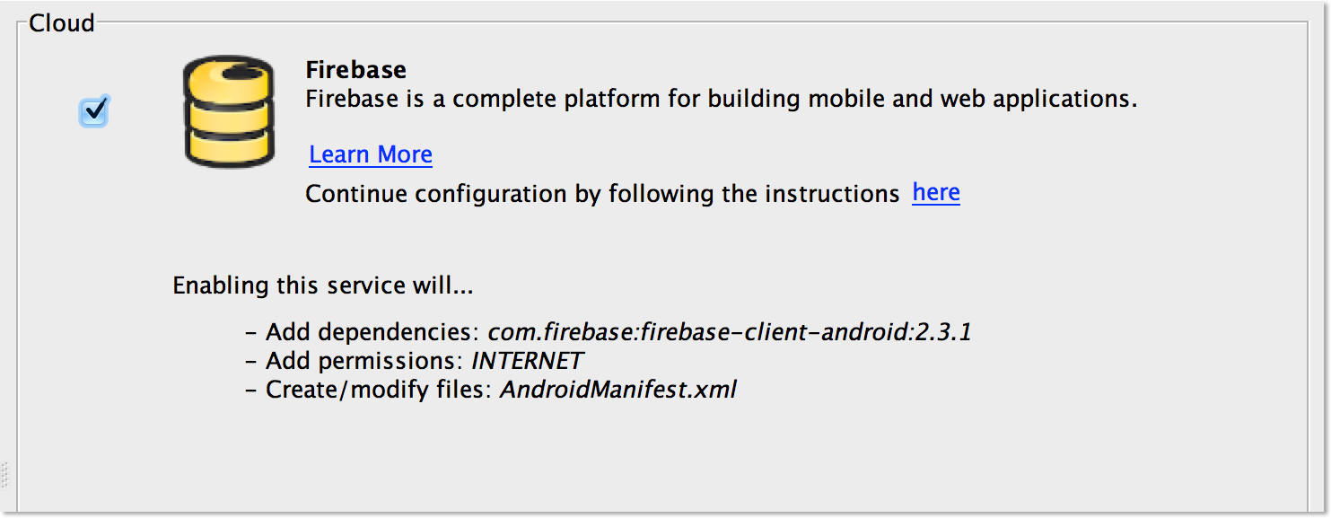 how to add firebase update dependency to your project