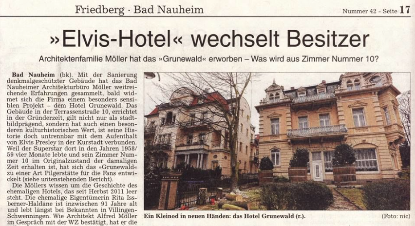 Elvis Day By Day February 19 Hotel Grunewald Sold