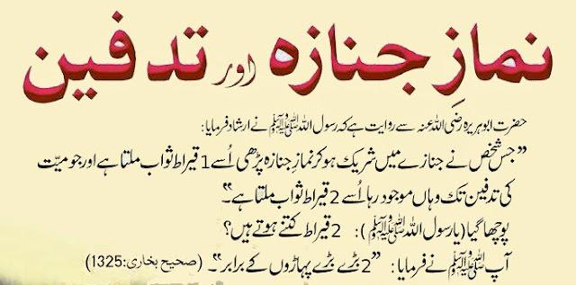 Namaz e Janaza Mein Shirkat Ki Fazeelat