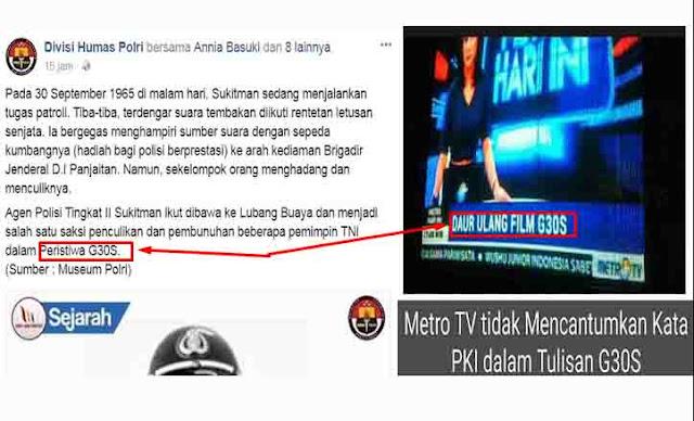 Heboh, Netizen Pertanyakan Akun Div Humas Polri Tulis G30S tanpa PKI