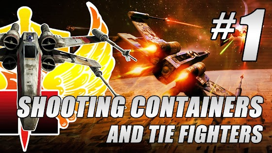 Star Wars: X Wing vs TIE Fighter: Balance of Power Gameplay #1 ★ Shooting Containers & TIE Fighters