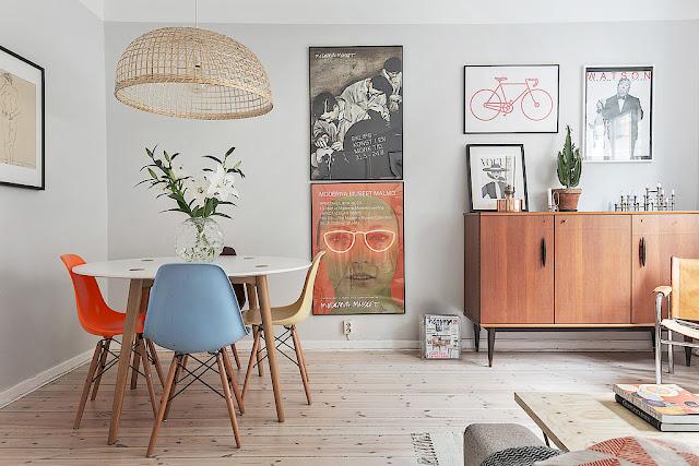 Retro-scandinav într-un apartament de numai 40 m²