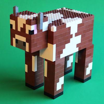 vaca hecha con juguetes lego