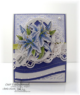 Our Daily Bread Designs, created by Chris Olsen, Beauty, Leafy Edged Border dies, Boho Background die, Mini tag sentiments, Mini Tag dies, Ovals dies, Stitched Ovals dies, Doily die, Star Flourished Pattern Dies, Vintage Flourish Pattern Dies