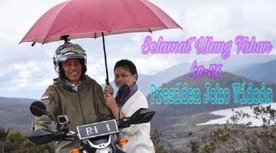 Kumpulan ucapan Selamat Ulang Tahun Bp Joko Widodo (Jokowi) Presiden RI 2018