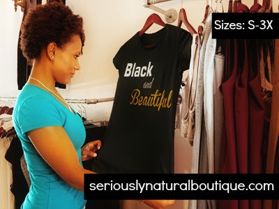 Black and Beautiful Tee from Seriously Natural Boutique