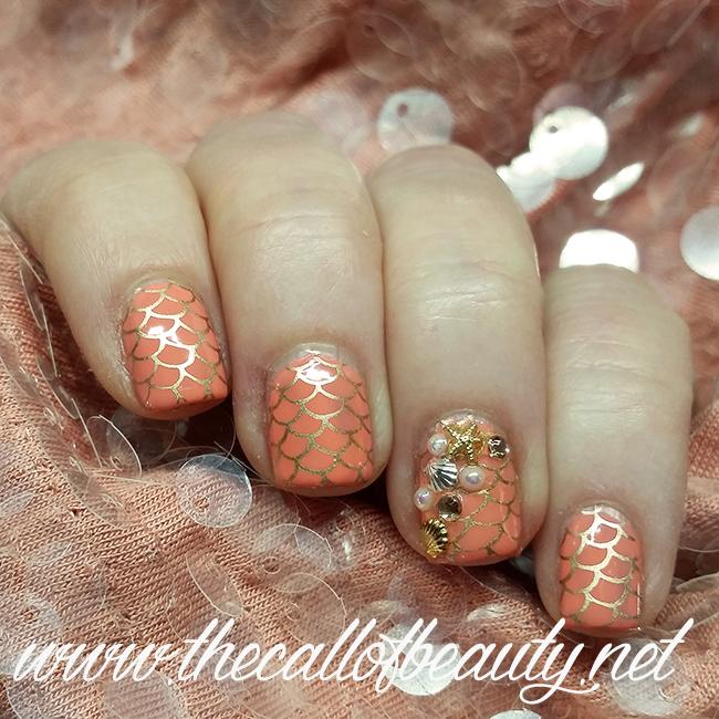 Coral Reef Nail Art
