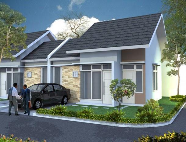 Contoh Desain Rumah Minimalis Modern Tipe 45 Model Kopel
