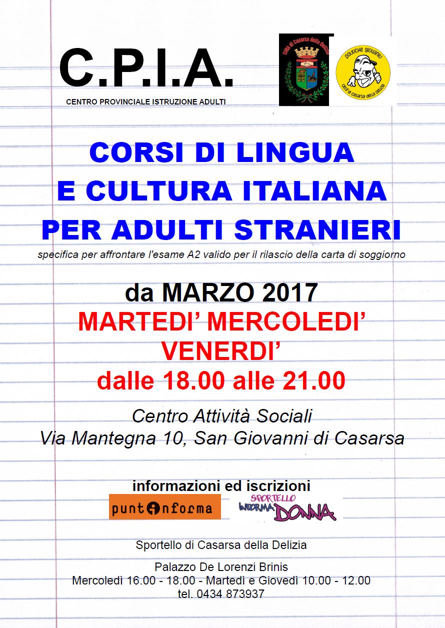 Sportello Informadonna Casarsa: Al via i corsi di lingua italiana ...