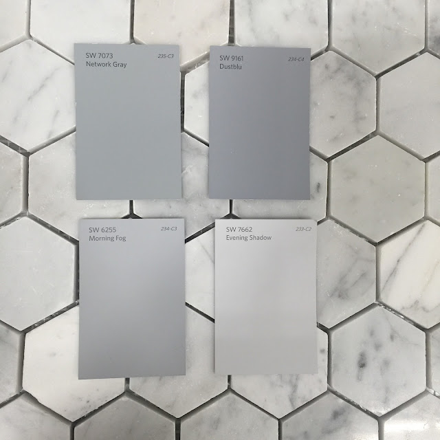 Carrara Marble wall tile hexagon shape :: OrganizingMadeFun.com