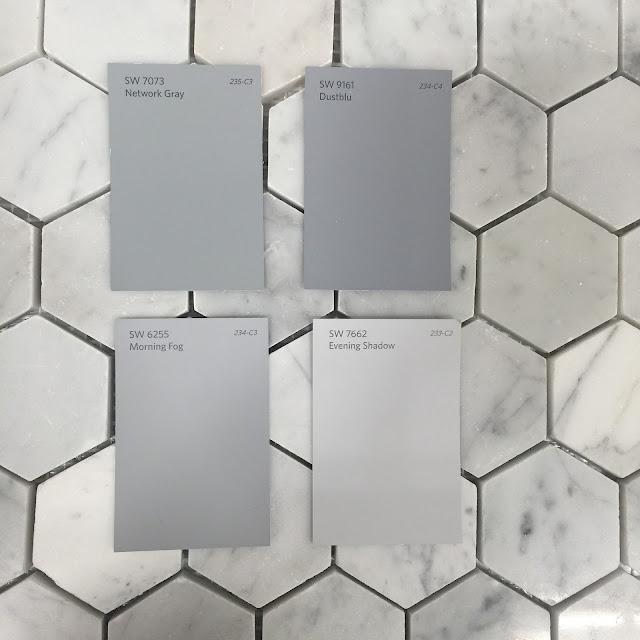 Carrara Marble wall tile hexagon shape :: OrganizingMadeFun.com