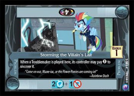 My Little Pony Storming the Villain's Lair Canterlot Nights CCG Card