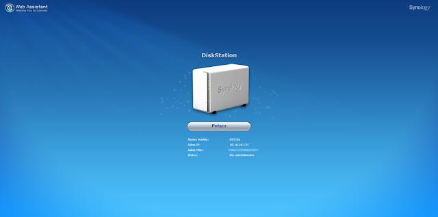 Strona informująca o odnalezieniu urządzenia po skorzystaniu z powyższych adresów sieciowych