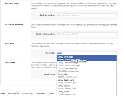 block friends apps on Facebook
