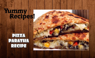 Pizza Paratha Recipe - How To Make Pizza Paratha