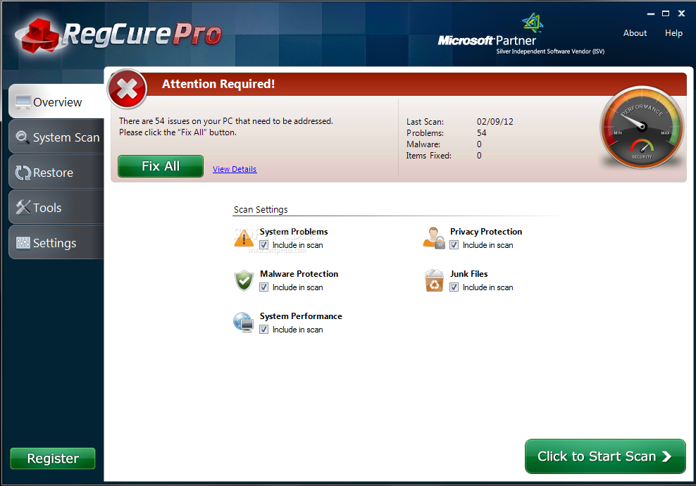 regcure pro license key 2016