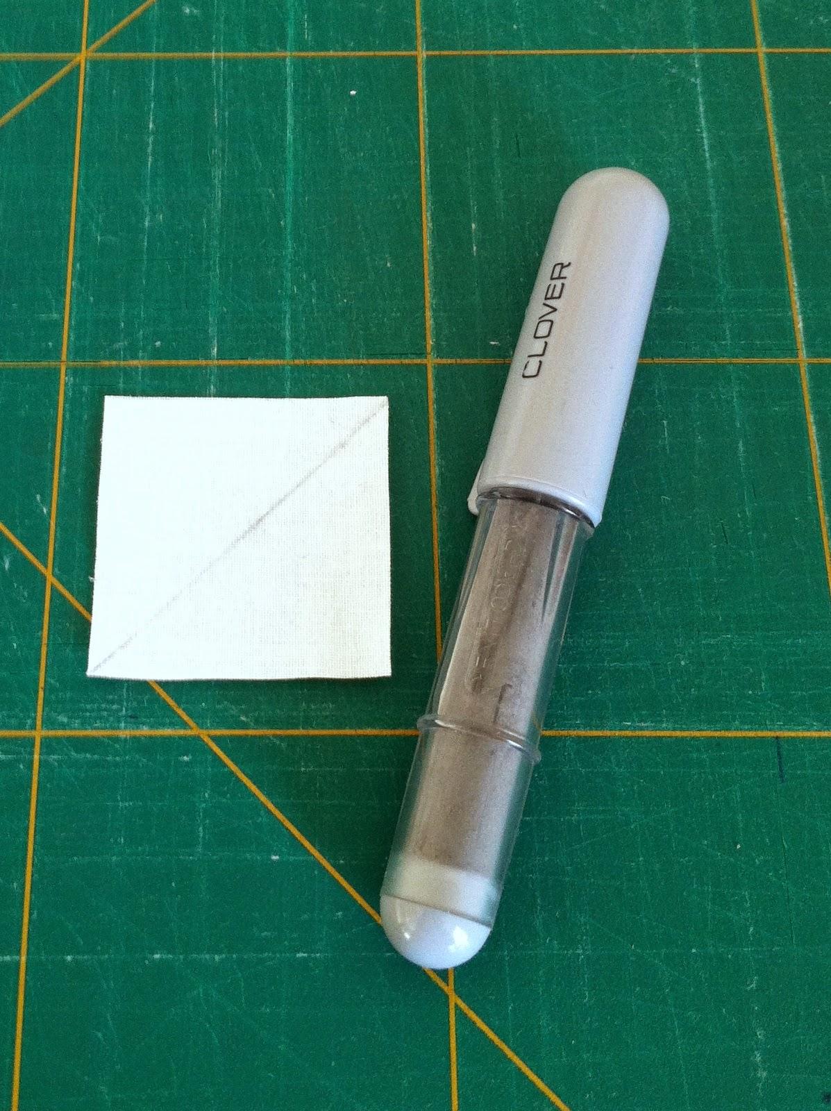 Diagonale lijn op stof voor square in a square blok