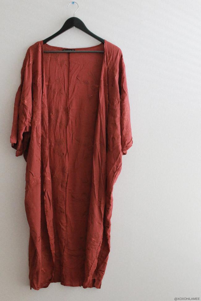 日本人ファッションブロガー,Mizuho K,NEW IN-三日月と花のドロップイヤリング,刺繍ダストコート 着物ガウン from Zaful