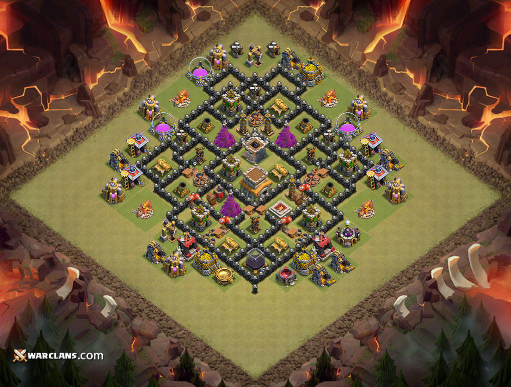 Demikianlah informasi mengenai war base th 8 clash of clans paling