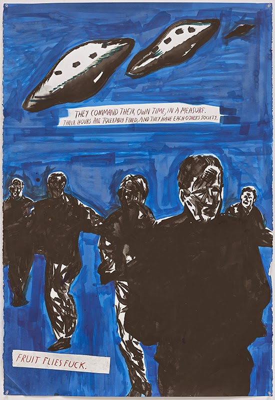 Raymond Pettibon No Title (They command their), 2015 Ink, gouache and acrylic on paper 76.2 x 111.8 cm
