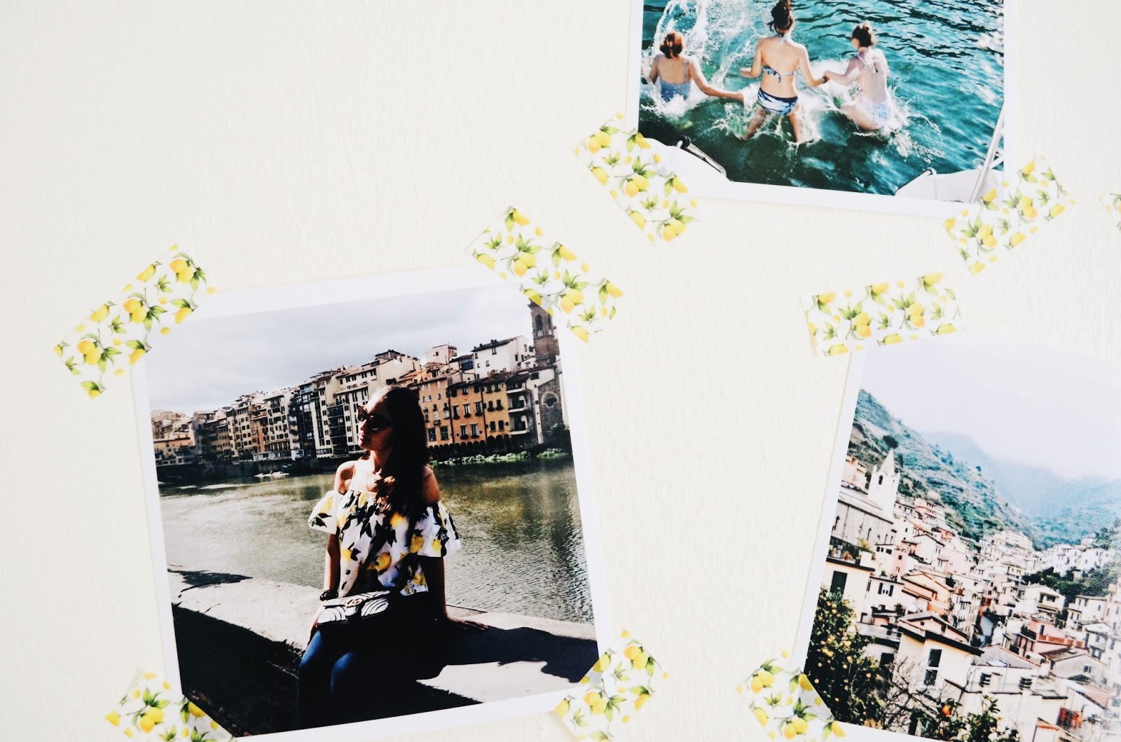 Display your travel photos with washi tape