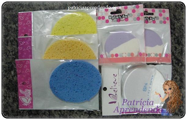 Esponjas para limpeza facial e maquiagem