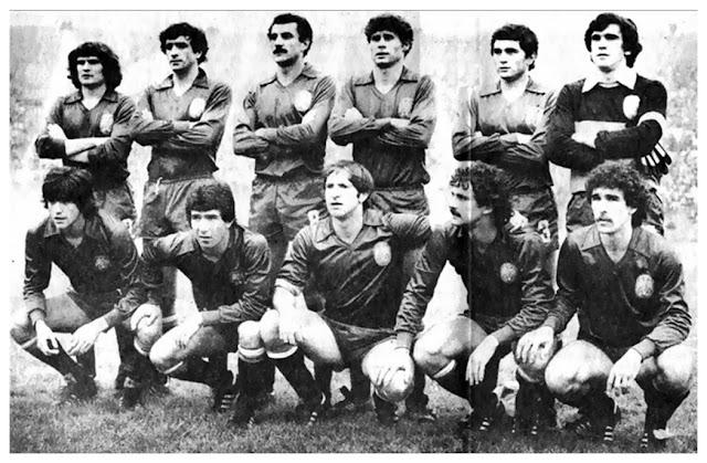Formación de España ante Chile, amistoso disputado el 5 de julio de 1981