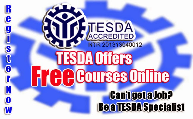 TESDA Offers Free Courses Online