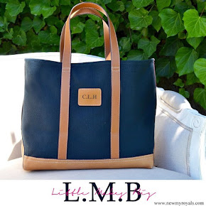 Kate Middleton carried Little Makes Big Monogrammed Tote