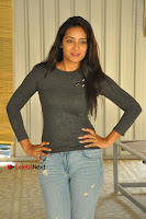 Actress Bhanu Tripathri Pos in Ripped Jeans at Iddari Madhya 18 Movie Pressmeet  0052.JPG