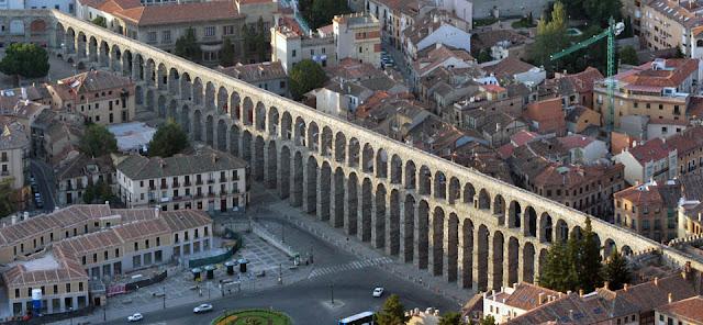 Acueducto de Segovia, visto desde arriba