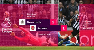 Arsenal Kalah 1-2 di Kandang Newcastle United