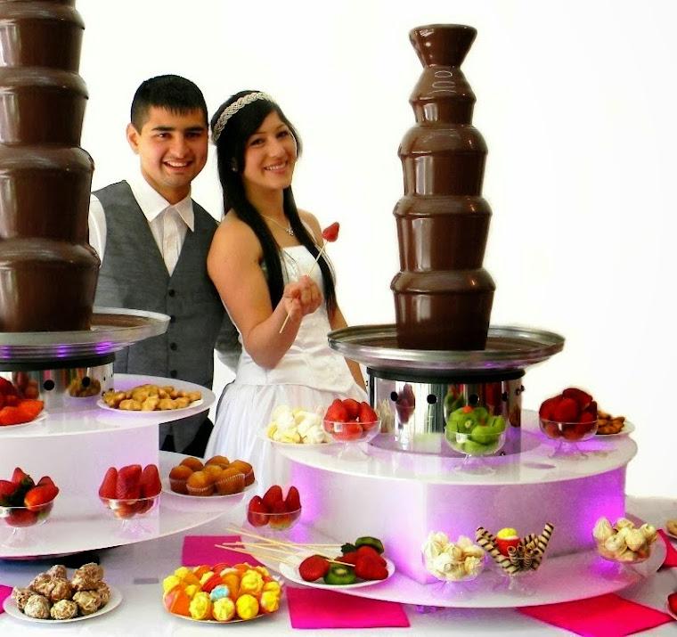 cascada de chocolate grande