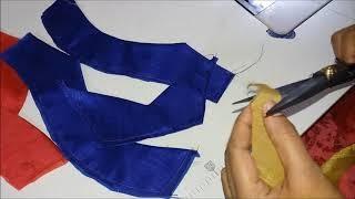 पैच वर्क Blouse Design For Silk Sai