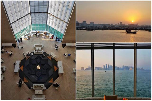 Una visita al Museo de Arte Islámico de Doha Vistas Interior Café