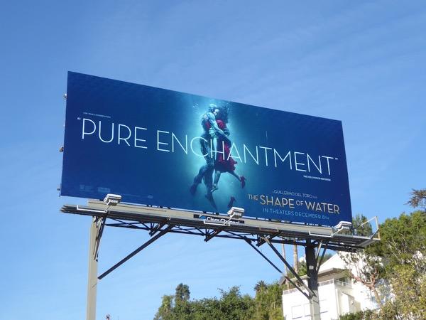 Shape of Water movie billboard