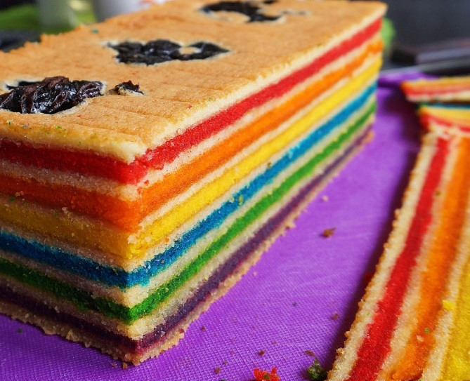 Resep Kue Lapis Legit Rainbow Kukus Yang Enak Spesial