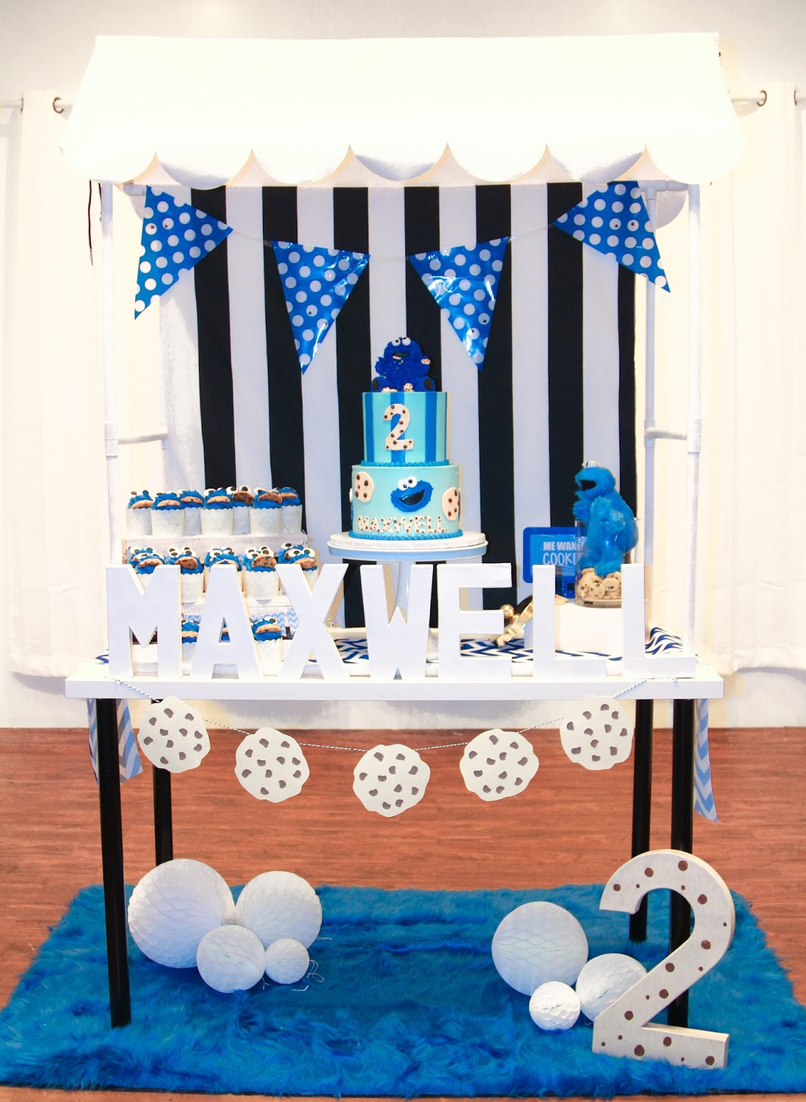 Cookie Monster Birthday Party by popular South Florida party blogger Celebration Stylist