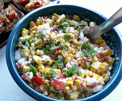 Corn & Tomato Salad with Feta Cheese