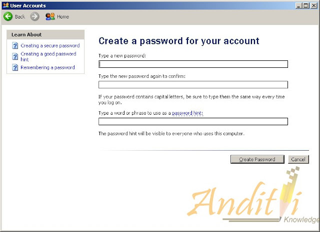 Cara Memberi Password Pada Account Windows XP-anditii.web.id
