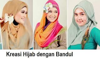 Kreasi hijab aksesoris bandul cantik dan simple
