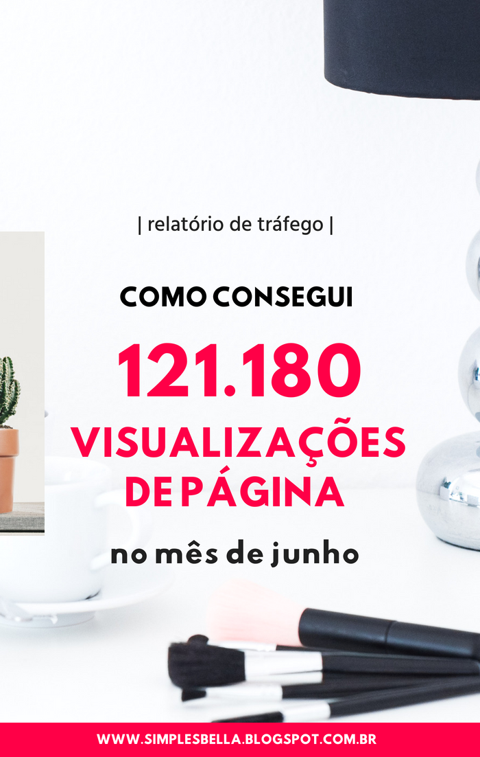 Como consegui 121.180 visualizações de página em Junho de 2018