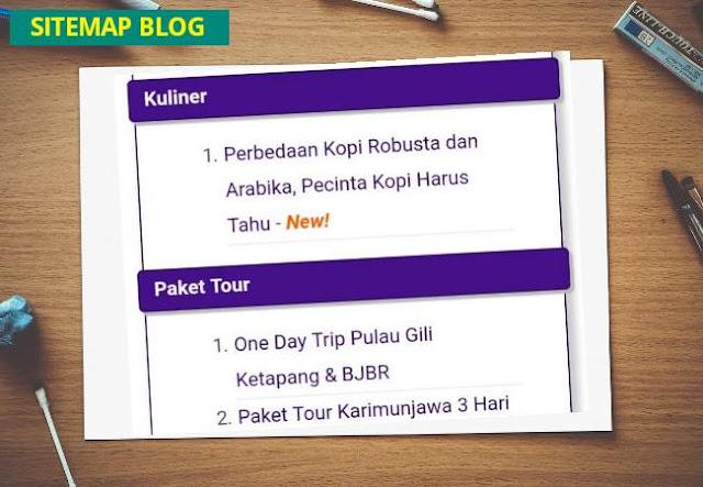 Cara membuat sitemap blogger