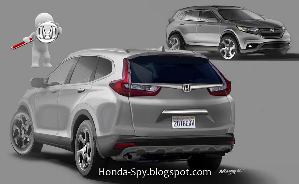 2017 Honda Cr V Artist Ilration From Spy Photos