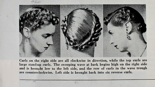 1950s pin curl set how-to