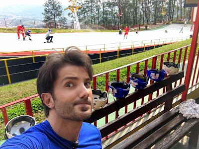 Rhoque na pista de esqui artificial em São Roque - Divulgação