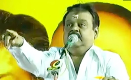 Vijayakanth speech in election campaign at Panruti, Cuddalore District